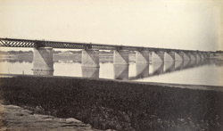 Railway Bridge over Jumna at Allahabad.